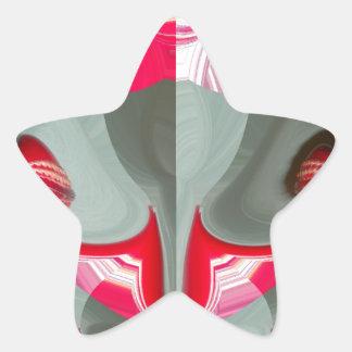 Red Vintage Hakuna Matata round gifts.jpg Star Sticker