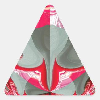 Red Vintage Hakuna Matata round gifts.jpg Triangle Sticker