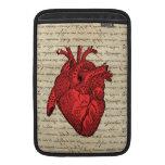 Red vintage heart MacBook sleeves