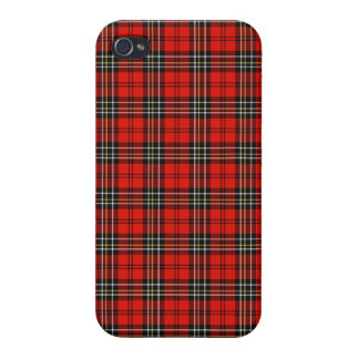Red Vintage Plaid iPhone 4 Cases