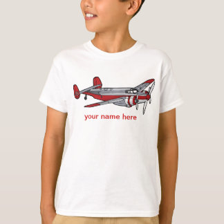 Red Vintage Plane Kids' Basic Shirt