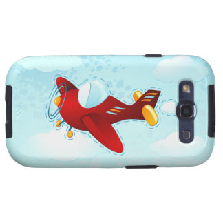 Red vintage plane, Samsung Case Galaxy SIII Cover