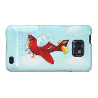 Red vintage plane, Samsung Case Galaxy S2 Cover