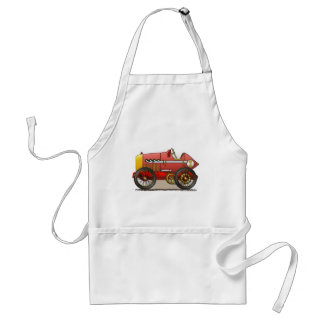 Red Vintage Race Car Aprons
