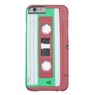 Red Vintage Retro Audio Cassette Tape Barely There iPhone 6 Case