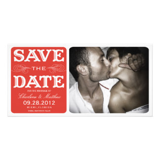 RED VINTAGE    SAVE THE DATE ANNOUNCEMENT