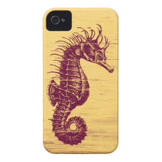 red vintage seahorse iphone iPhone 4 Case-Mate case