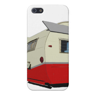 Red Vintage Shasta Trailer iPhone 4 case