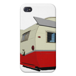 Red Vintage Shasta Trailer iPhone 4 case
