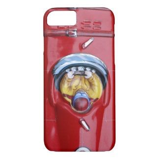 Red vintage tin toy race car iPhone 8/7 case