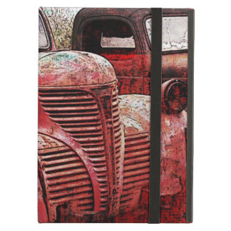 red vintage trucks case case for iPad air