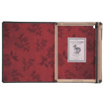 Red Vintage Wallpaper Case For iPad