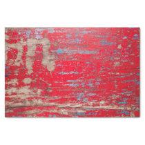 Red Vintage Wood Tissue Paper
