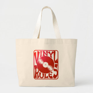 Red Vinyl Rules, ok? Canvas Bags