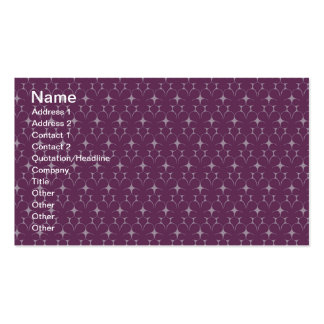Red Violet 70's Floral Business Card Template