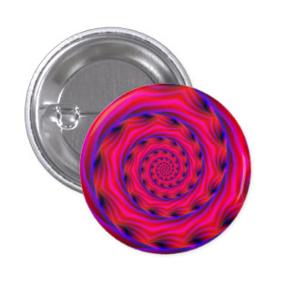 Red Violet and Blue Spiral Button