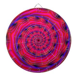 Red Violet and Blue Spiral Dartboards