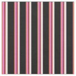 [ Thumbnail: Red, Violet, Brown, White, and Black Lines Fabric ]