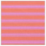 [ Thumbnail: Red & Violet Lined/Striped Pattern Fabric ]