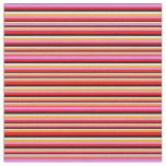 [ Thumbnail: Red, Violet, Orange, White & Black Colored Lines Fabric ]