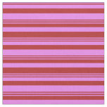 [ Thumbnail: Red & Violet Pattern of Stripes Fabric ]