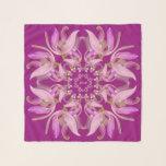 "Red Violet & Pink Orchids Square Chiffon Scarf<br><div class=""desc"">Red Violet & Pink Pink Orchids or Red Violet background.  Graphic Design by Claudine Boerner.</div>"