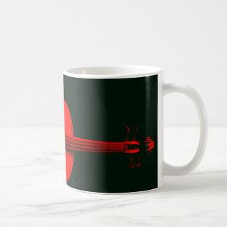 Red Violin Design on a Mug