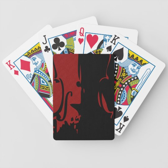 Red Violin Playing Cards