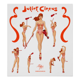 Red Violinist Juliet Circus Sequence Poster