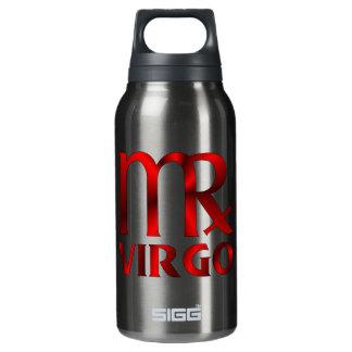Red Virgo Horoscope Symbol Insulated Water Bottle