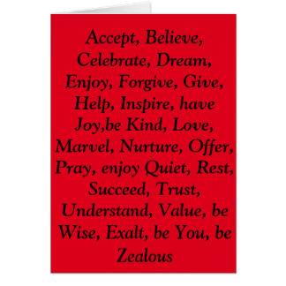 Red virtues card