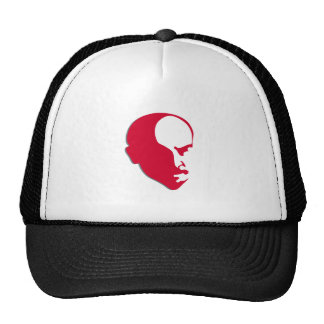 Red Vladimir Ilich Lenin stencil silhuette Trucker Hat
