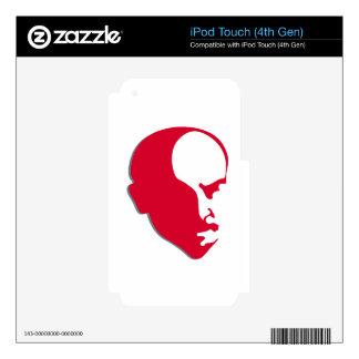 Red Vladimir Ilich Lenin stencil silhuette iPod Touch 4G Skin