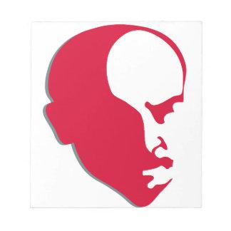 Red Vladimir Ilich Lenin stencil silhuette Notepad