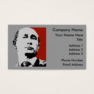 Red Vladimir Putin Business Card