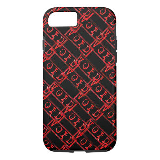 Red Void Typography Word Not Legally Binding iPhone 7 Case