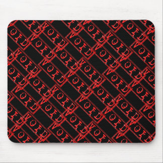 Red Void Typography Word Not Legally Binding Mouse Pad