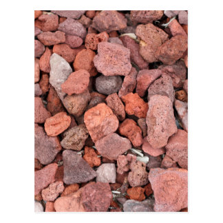 Red Volcanic Rocks Ground Cover Postcard