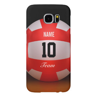 Red Volleyball Samsung Galaxy S6 Cases