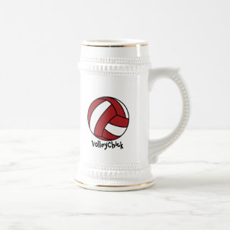 Red Volleyball (customizable) Beer Stein