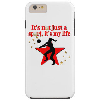 RED VOLLEYBALL IS MY LIFE DESIGN TOUGH iPhone 6 PLUS CASE