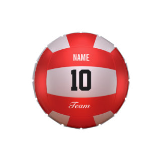 Red Volleyball Jelly Belly Tin