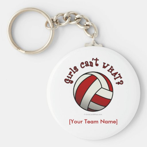 Red Volleyball Key Chains