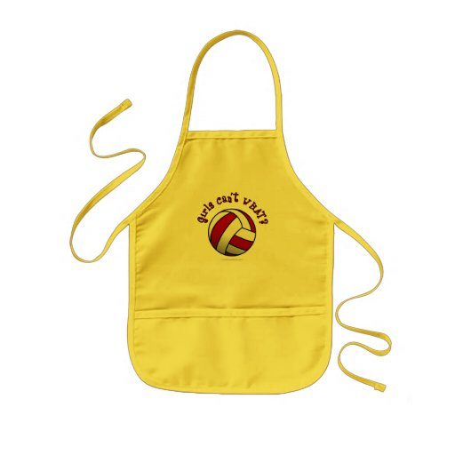 Red Volleyball Kids' Apron