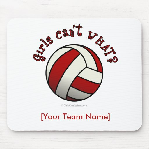 Red Volleyball Mousepads