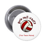 Red Volleyball Pin