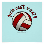 Red Volleyball Poster