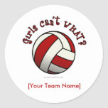 Red Volleyball Stickers
