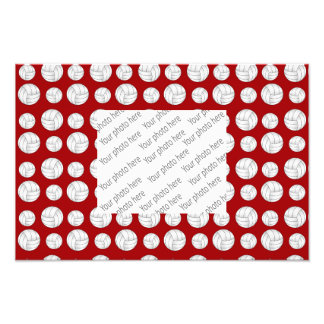 Red volleyballs pattern photographic print