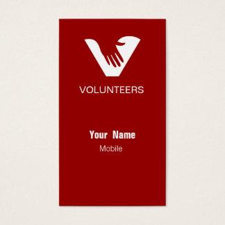 Red Volunteers Business Card
